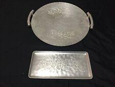 Vintage Hammered Aluminum Metal Trays Hand Forged Everlast