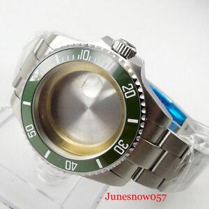 Fit ETA 2824 PT5000 SUB 40mm Sapphire Watch Case Brush Oyster Bracelet