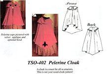 Civil War Style PELERINE CLOAK 3/4 LENGTH CAPE Timeless Stitches PATTERN TSO-402