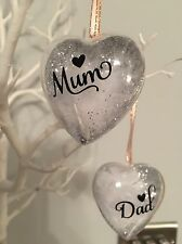 Christmas Personalised Remembrance Heart Bauble