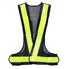 Hi-Viz Reflective Vest High Visibility Warning Black Yellow N3
