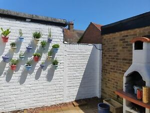 Pot-Ups.Pack of 6 Plant pot Hangers,Grow chilis herbs plants on wall or fence