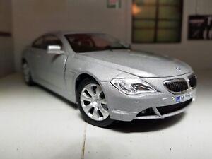 1:24 BMW 6 Series E63 2003 Coupe 645 Ci Silver Cararama Diecast Model Car