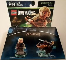 NEW LEGO DIMENSIONS FUN PACK LORD OF THE RINGS LEGOLAS 71219 FREE WORLD SHIPPING