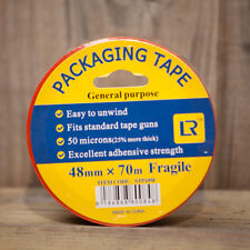60 Rolls FRAGILE Sticky Packing Tape 70 meter x48mm Black on Red