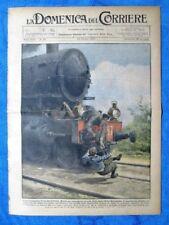 La Domenica del Corriere 23 ottobre 1927 Chieti - R.Warren - Milano-Bergamo