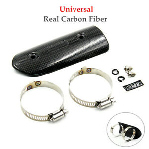 Motorcycle Exhaust Pipe Guard Heat Shield Carbon Fiber Cover Protector Durable