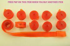 """5 coppie (10) 24 """"Bicicletta Ruota 18 mm di larghezza del cerchione nastri molto Heavy Duty 1mm spessore Arancione"""