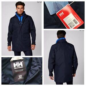 HELLY HANSEN Dubliner Rain Coat HELLY TECH Navy Size M NEW RRP £150