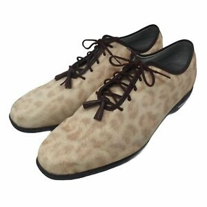 Footjoy Golf Shoes Womens 11 M Cheetah Print Spikeless Tailored Collection 91653