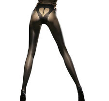 Collants sexy noir fantaisie femme motif coeur 20 Den Fiore corazon T2 T3 T4
