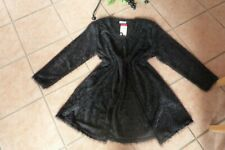 MAGNA Long Strickjacke Cardigan 48 50 NEU schwarz kuschelig Stretch LAGENLOOK