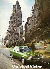Vauxhall Victor FE 1972-73 UK Market Sales Brochure 1800 2300 De Luxe SL