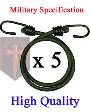 """NEUF 5 X 12 """" BUNGEES VERT MILITAIRE spécification cordon élastique 30cm"""