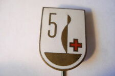 Hungary Hungarian Badge Red Cross 5 Time Blood Donor Donation Brass Vintage
