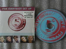 CD-FIVE-EVERYBODY GET UP-I love Rock'n'roll'-Joan Jett-(CD SINGLE)-1998-2 TRACK