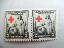 SCOTT # 702 - PAIR OF RED CROSS 2 CENT STAMPS - MINT HINGED