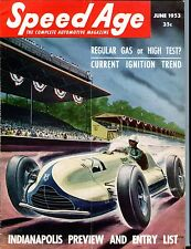 Speed Age Magazine June 1953 Indianapolis Preview EX No ML 051917nonjhe