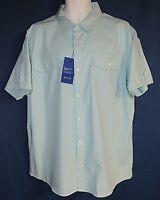 APT.9 Premier Flex Slim Fit Men's XXL Short Sleeve Shirt Easy Care New Tags