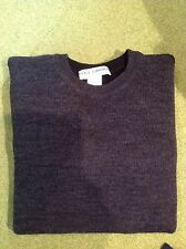 DOLCE & GABBANA - COUTURE SWEATER - REVERSIBLE DK GREY & BLK (Sz 54) WOVEN  WOOL