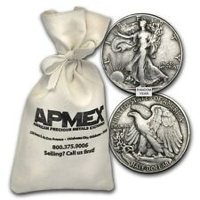 90% Silver Walking Liberty Half-Dollars $50 Face-Value Bag - SKU #88202
