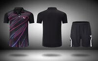 New outdoor sports tennis clothes Casual Tops Men's badminton T-shirt+shorts
