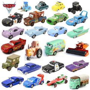 1:55 Disney Pixar Cars Racers No.1-No.123 Loose Model Toy Car Gift For Kids Boys