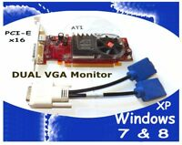 Dell TOWER Video Card Dimension Inspiron Optiplex Vostro + Dual Monitors VGA