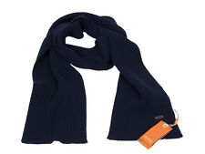 Hugo Boss bufanda ariffo marine algodón lana virgen poliamida Orange Label nuevo