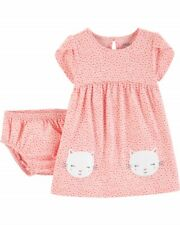 NWT Girls 24 Mth Kitty Cat Dress With Matching Diaper Cover NEW