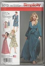Simplicity Sewing Pattern 8013 Miss Retro '70's Dress in 2 Lengths Sz 6-14