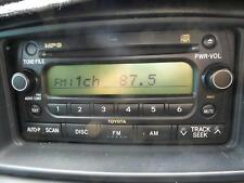 TOYOTA COROLLA FACTORY RADIO/CD PLAYER, ZZE122, W/ MP3 PLAYER 12/01-06/07