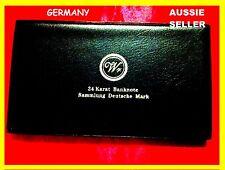 GERMANY 8 GOLD  BANKNOTES  RARE MARKS ALBUM SET BANK NOTE UNC 24KT GOLD 99.9%