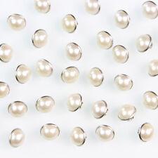 100 Stück Knöpfe Perle Beige Knopf Damen Kleider Kleidung Nähen Fein Knopf