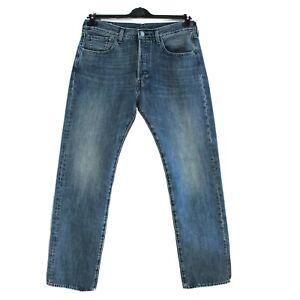 Levi Strauss & Co 501 Premium Grand E Homme Jean Taille W32 L32 Standard Bleu