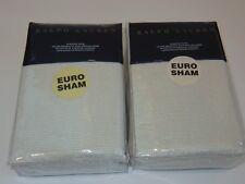 2 Ralph Lauren Great Sands Lowden Cream Euro shams $505