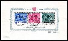 POLEN 1949 BLOCK11 gest ROOSEVELT (S7210