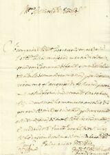 Lettera Autografo Francesco Saminiati da Firenze a Francesco Mancini Siena 1689