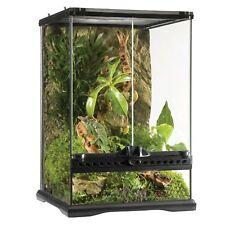 Exo Terra 30x30x45cm Natural Glass Terrarium Mini/Tall - Black/Clear (PT2602)