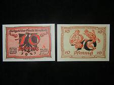 Notgeld der Stadt Arnstadt 10 Pfennig von A. Paul Weber (meine Pos-Nr. 10-6-1)
