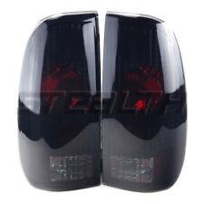 Fits 97-03 Ford F-150 99-07 F-250 350 450 550 Altezza Tail Lights Black Smoke