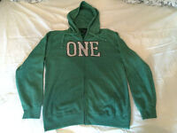 One Industries Hooded Top Verdant Green Medium Cobra Kai Front Zip New With Tags