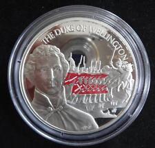 2002 moneda de plata prueba 5OZ Color Britannia CAJA + CERTIFICADO DE AUTENTICIDAD Duque de Wellington 1/500