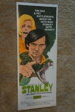STANLEY  SNAKE  REPTILE  HORROR  INSERT  1972