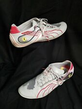 Men's PUMA Size 13 Gray Red BMW Motorsport Leather Athletic Sneakers