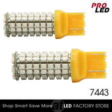 7443 7440 96SMD Amber Yellow Front Turn Signal Blinker LED Lights Bulbs