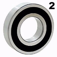 Two (2) 6203-2RS Sealed Bearings 17x40x12 Ball Bearing / Pre-Lubricated