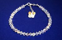 Beautiful Handmade Crystal AB Butterfly Bracelet Made With SWAROVSKI ELEMENTS