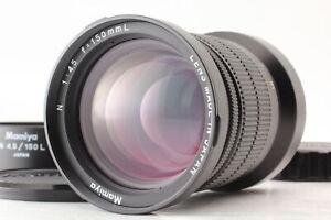 [ MINT ] MAMIYA N 150mm F4.5 L Lens w/ Hood Cap For Mamiya 7 7II II From JAPAN