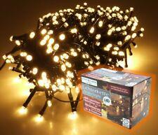 LICHTERKETTE Snakelight 11 m / 400 LED warmweiß mit 6 h Timer Innen Außen IP44